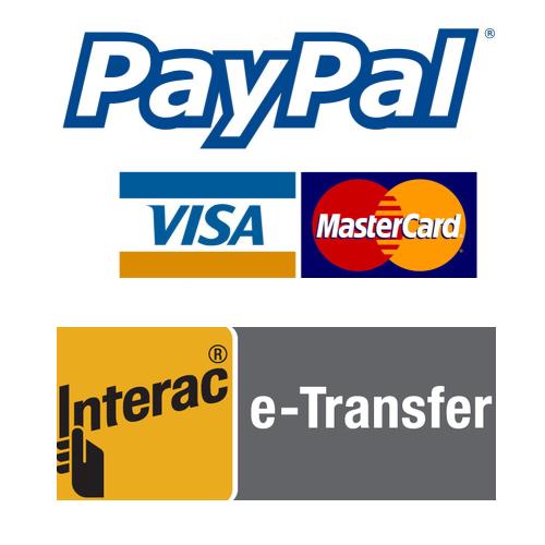 Modes de Paiement: Paypal/ VISA/ MASTER CARD/ INTERAC E-TRANFERT HYDRAVION MAURICIE